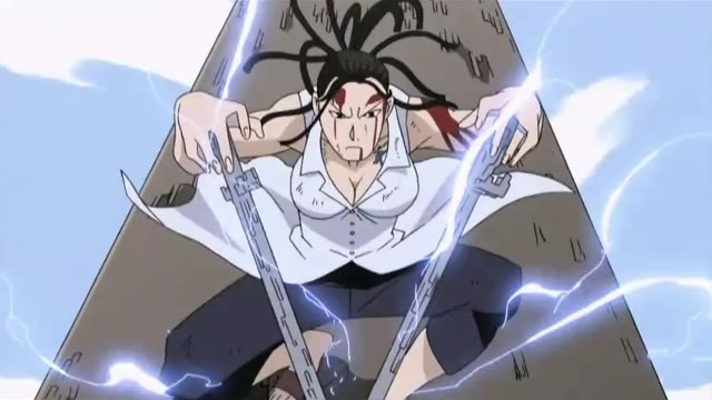 Izumi Curtis doing alchemiy