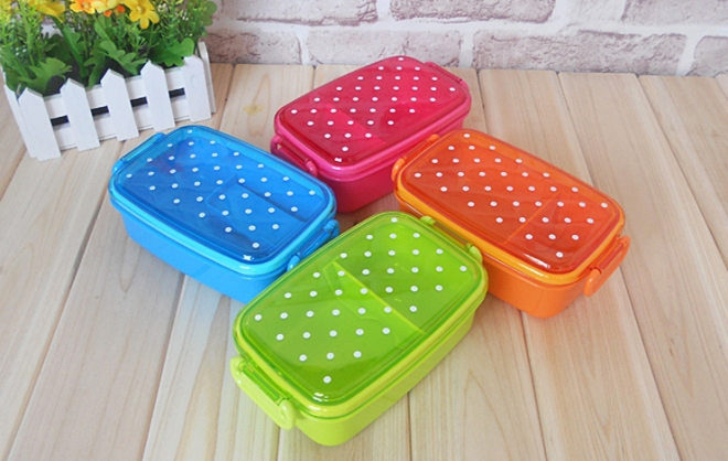 polka-dot-japanese-bento-lunch-box-for-kids-plastic-sushi-lunchbox-food-container-food-box-microwave